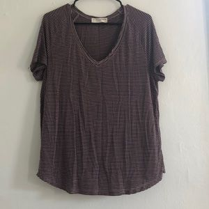 Urban Outfitters stripe oversized tee top size S